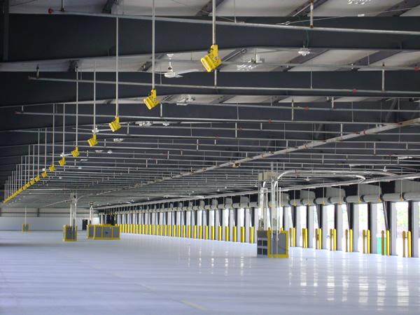 Interior Steel Warehouse with key lights